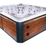 Self-Clean 970 Hot Tub with Black Cherry Cabinet