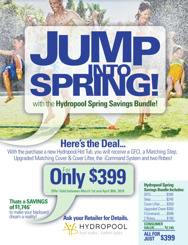 Jump Into Spring Hot Tub Promotion by Hydropool